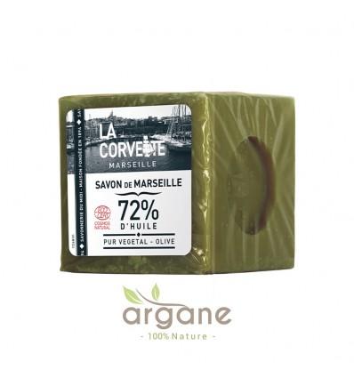 La Corvette Cube de Savon de Marseille Olive 200g