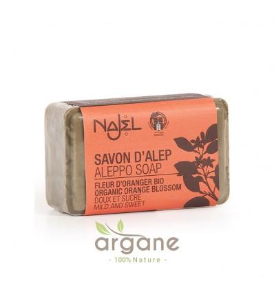 Najel savon d'Alep Fleur d'Oranger Bio 100g