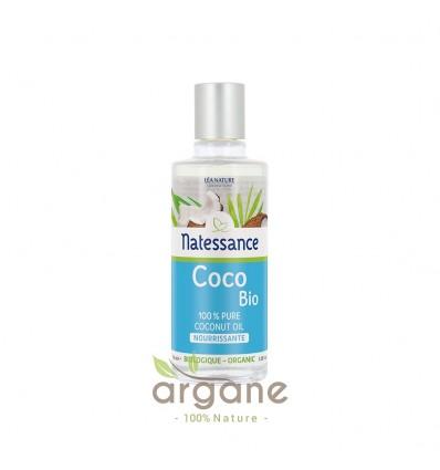 Natessance Huile Seche de Coco - Visage, Corps et Cheveux