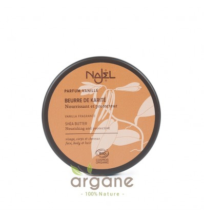 Najel Beurre de Karité parfum Vanille 100g – Soin visage, corps et cheveux