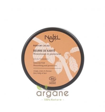 Najel Beurre de Karité parfum Cacao 100g – Soin visage, corps et cheveux