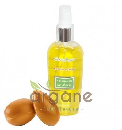 Huile de massage amincissante et anti-cellulite à base d'Argan