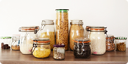 Céréales, graines, pâtes, riz
